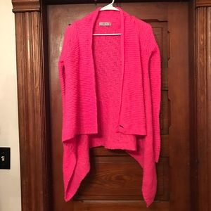 Abercrombie & Fitch Hot Pink Drape Sweater